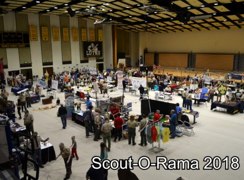 Scout Units host a display booth at Scout-O-Rama